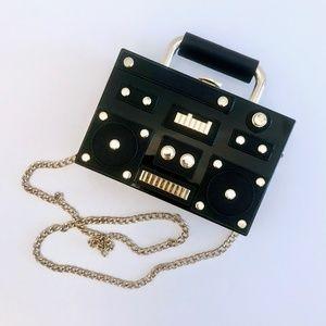 ZARA TRF boombox mini crossbody clutch bag